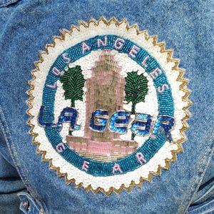 L.A. Gear vintage 80's jean jacket